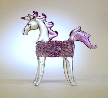 Pink glass unicorn