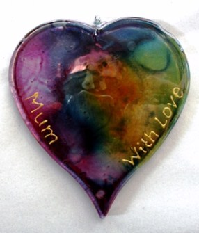 Glass Mother's day heart